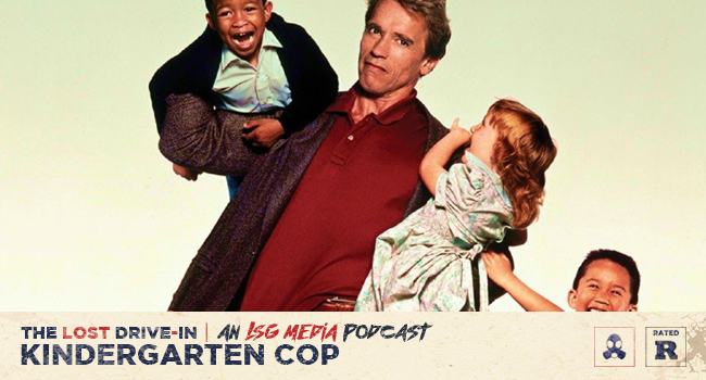 Movie Watch Kindergarten Cop 1990 Podcast Film Discussion The Lost Drive In